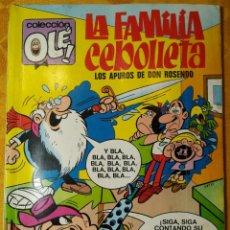 Tebeos: COLECCIÓN OLÉ. - LA FAMILIA CEBOLLETA. LOS APUROS DE DON ROSENDO - TOMO 59. 1° EDICIÓN 1972. EXCELEN. Lote 143581966