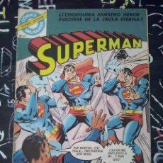Tebeos: BRUGUERA - SUPERMAN NUM. 14 ( SUPER-ACCION 57 ).CONTIENE UNA HISTORIA INEDITA DE BATMAN. Lote 143898574