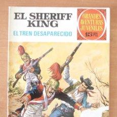 Tebeos: EL SHERIFF KING. EL TREN DESAPARECIDO. GRANDES AVENTURAS JUVENILES. Nº 6. BRUGUERA.. Lote 143907594