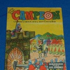 Tebeos: (M7) EL CAMPEON NUM 1 AÑO 1 , EDT BRUGUERA , SEÑALES DE USO NORMAL. Lote 144083774