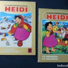 Tebeos: EL MUNDO MARAVILLOSO DE HEIDI / EDICION TAPA DURA / 2 EJEMPLARES / ED. BRUGUERA 1976. Lote 144383582