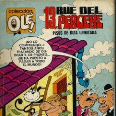 Tebeos: OLE Nº 58 - 13 RUE DEL PERCEBE - DE F. IBAÑEZ, BRUGUERA 1972, PRIMERA 1ª EDICION, 40 HOJAS, COMPLETO. Lote 144735218