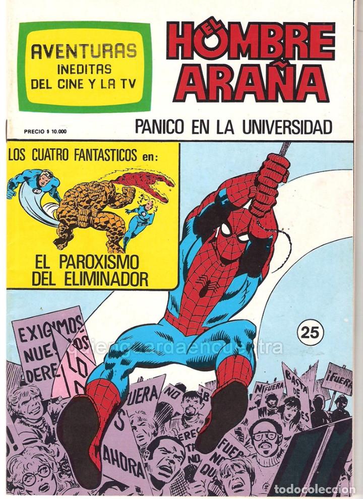 Tebeos: Spiderman-El Hombre y la Mujer Araña-Hulk-aventuras cine- tv 5 nuevos-11-12-24-25-26- años 80 - Foto 6 - 153884601