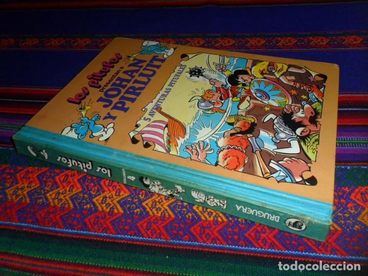 LOS PITUFOS JOHAN Y PIRLUIT SUPER HUMOR VOLUMEN 4 BRUGUERA 1ª ED. 1983. REGALO VOLUMEN 3 1ª ED. 1982 (Tebeos y Comics - Bruguera - Super Humor)