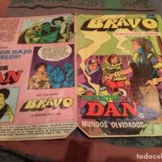 Tebeos: BRAVO- Nº 62 -INSPECTOR DAN- Nº 31 - MUNDOS OLVIDADOS - 1976. Lote 145465462