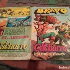 Tebeos: BRAVO. Nº 23. EL CACHORRO, Nº 12. RODEADOS DE PELIGROS. BRUGUERA 1976. Lote 145465762