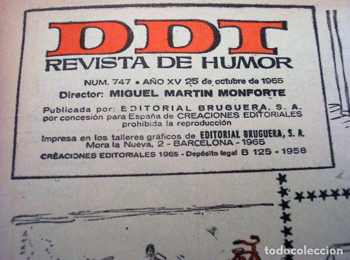 Tebeos: DDT - NÚMERO 747 - AÑO 1965 - Foto 2 - 145538370