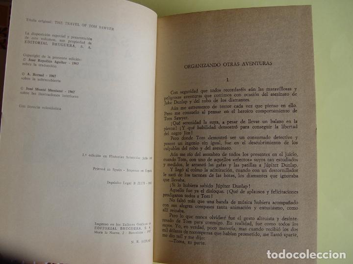 Tebeos: TOM SAWYER A TRAVÉS DEL MUNDO (Historias Selección. BRUGUERA, 1967) 1ª ed. Original - Foto 4 - 145595930