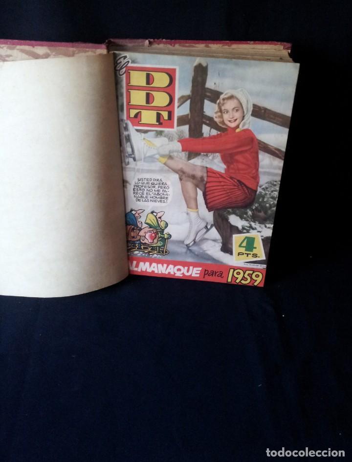 REVISTA EL DDT - TOMO ENCUADERNADO - AÑO VII (Nº 367) Y AÑO VIII (Nº 368 AL 399) + ALMANAQUE 1959 (Tebeos y Comics - Bruguera - DDT)