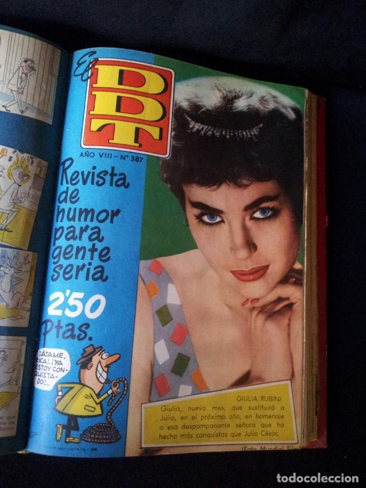 Tebeos: REVISTA EL DDT - TOMO ENCUADERNADO - AÑO VII (Nº 367) Y AÑO VIII (Nº 368 AL 399) + ALMANAQUE 1959 - Foto 5 - 145609642