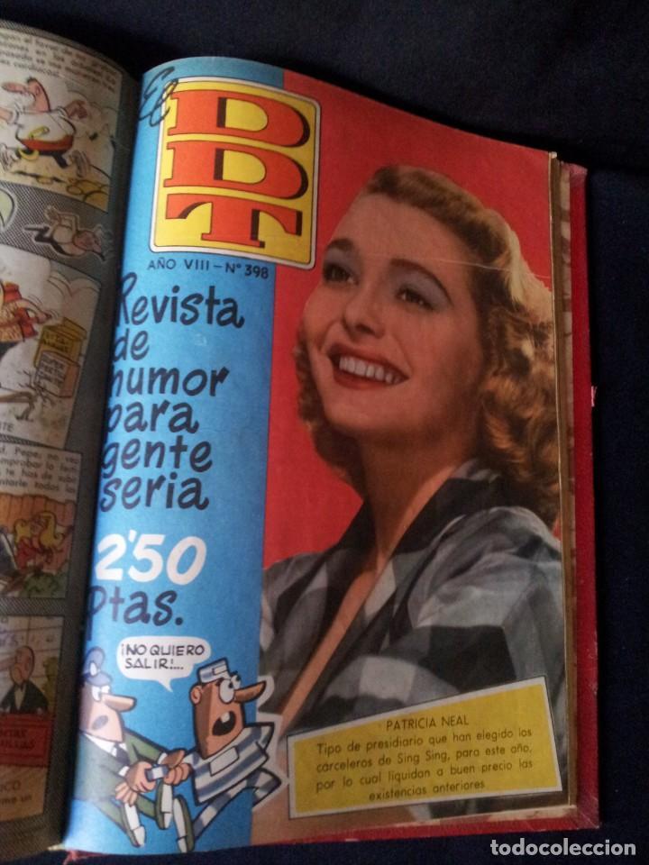Tebeos: REVISTA EL DDT - TOMO ENCUADERNADO - AÑO VII (Nº 367) Y AÑO VIII (Nº 368 AL 399) + ALMANAQUE 1959 - Foto 6 - 145609642