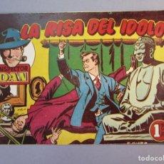 Tebeos: INSPECTOR DAN (1951, BRUGUERA) 34 · 1952 · LA RISA DEL IDOLO. Lote 145732234