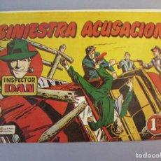 Tebeos: INSPECTOR DAN (1951, BRUGUERA) 31 · 1952 · SINIESTRA ACUSACIÓN. Lote 145737906