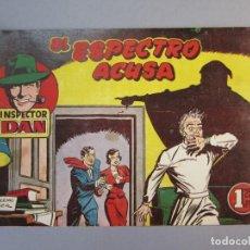 Tebeos: INSPECTOR DAN (1951, BRUGUERA) 29 · 1952 · EL ESPECTRO ACUSA. Lote 145738706