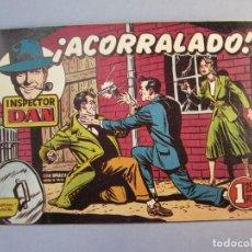 Tebeos: INSPECTOR DAN (1951, BRUGUERA) 27 · 1951 · ¡ACORRALADO!. Lote 145739190