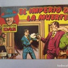 Tebeos: INSPECTOR DAN (1951, BRUGUERA) 26 · 1952 · EL IMPERIO DE LA MUERTE. Lote 145739410