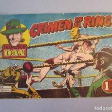 Tebeos: INSPECTOR DAN (1951, BRUGUERA) 11 · 1952 · CRIMEN EN EL RING. Lote 145748794