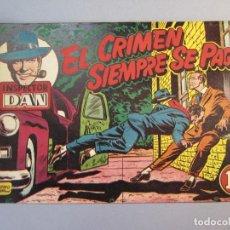 Tebeos: INSPECTOR DAN (1951, BRUGUERA) 7 · 1952 · EL CRIMEN SIEMPRE SE PAGA. Lote 145749030