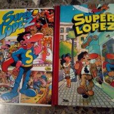 Tebeos: TOMOS 1 Y 2 SUPER HUMOR SUPER LOPEZ EDICIONES B PRIMERA EDICIÓN 1990. Lote 145884014