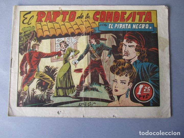 PIRATA NEGRO, EL (1948, BRUGUERA) 3 · 1948 · EL RAPTO DE LA CONDESITA (Tebeos y Comics - Bruguera - Otros)