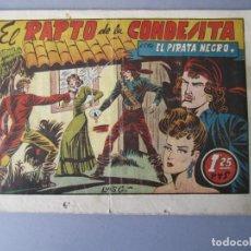 Tebeos: PIRATA NEGRO, EL (1948, BRUGUERA) 3 · 1948 · EL RAPTO DE LA CONDESITA. Lote 145895830