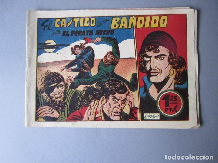 PIRATA NEGRO, EL (1948, BRUGUERA) 8 · 1948 · EL CASTIGO DE UN BANDIDO (Tebeos y Comics - Bruguera - Otros)