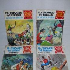 Tebeos: LOTE DE 39 COMICS EL CORSARIO DE HIERRO DE BRUGUERA - JOYAS LITERARIAS JUVENILES - AÑOS 70 / 80 -. Lote 146303882