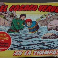 BDs: EL COSACO VERDE ¡EN LA TRAMPA! SUPER AVENTURAS Nº 576 Nº 99 AÑO 1962 ORIGINAL. Lote 146355526