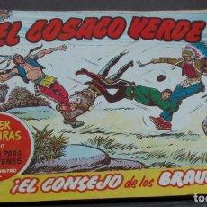 BDs: EL COSACO VERDE ¡EL CONSEJO DE LOS BRAVOS! SUPER AVENTURAS Nº 510 Nº 77 AÑO 1961 ORIGINAL. Lote 146364622
