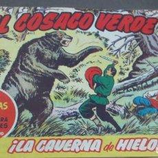 BDs: EL COSACO VERDE ¡LA CAVERNA DE HIELO! SUPER AVENTURAS Nº 459 Nº 60 AÑO 1961 ORIGINAL. Lote 146365742