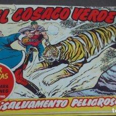 BDs: EL COSACO VERDE ¡SALVAMENTO PELIGROSO! SUPER AVENTURAS Nº 465 Nº 62 AÑO 1961 ORIGINAL. Lote 146366050