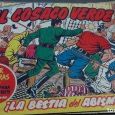 Tebeos: EL COSACO VERDE ¡LA BESTIA DEL ABISMO! SUPER AVENTURAS Nº 357 Nº 26 AÑO 1960 ORIGINAL. Lote 146394494