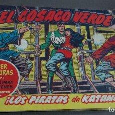 Tebeos: EL COSACO VERDE ¡LOS PIRATAS DE KATANG! SUPER AVENTURAS Nº 375 Nº 32 AÑO 1960 ORIGINAL. Lote 146395198
