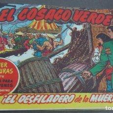 Tebeos: EL COSACO VERDE ¡EL DESFILADERO DE LA MUERTE! SUPER AVENTURAS Nº 378 Nº 33 AÑO 1960 ORIGINAL. Lote 146395506