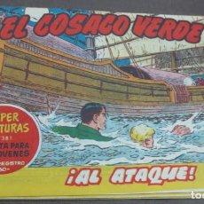 Tebeos: EL COSACO VERDE ¡AL ATAQUE! SUPER AVENTURAS Nº 381 Nº 34 AÑO 1960 ORIGINAL. Lote 146395626