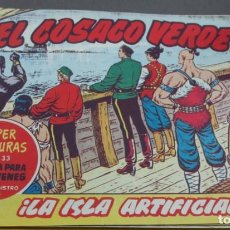 Tebeos: EL COSACO VERDE ¡LA ISLA ARTIFICIAL! SUPER AVENTURAS Nº 633 Nº 118 AÑO 1962 ORIGINAL. Lote 146396946