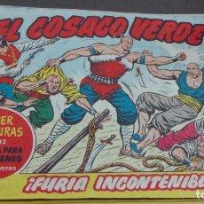 Tebeos: EL COSACO VERDE ¡FURIA INCONTENIBLE! SUPER AVENTURAS Nº 642 Nº 121 AÑO 1962 ORIGINAL. Lote 146397366