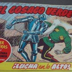 Tebeos: EL COSACO VERDE ¡LUCHA EN LO ALTO! SUPER AVENTURAS Nº 597 Nº 106 AÑO 1962 ORIGINAL. Lote 146397930