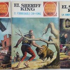 Tebeos: SHERIFF KING, BRUGUERA (PRIMERA EDICIÓN AÑOS 70) 3 EJEMPLARES VER RELACIÓN Y FOTOS. Lote 146499414