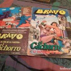 Tebeos: BRAVO Nº 7 EL CACHORRO Nº 4 - LA MALDICION DE KALA - BRUGUERA 1976. Lote 146541606