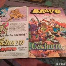 Tebeos: BRAVO Nº 13 EL CACHORRO Nº 7 UNA VICTORIA PARA ABU-SEIF - BRUGUERA 1976. Lote 146542610