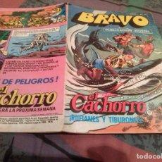 Tebeos: BRAVO- Nº 21-EL CACHORRO- Nº 11 - RUFIANES Y TIBURONES - BRUGUERA 1976. Lote 146543230