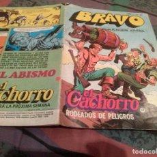 Tebeos: BRAVO. Nº 23. EL CACHORRO, Nº 12. RODEADOS DE PELIGROS. BRUGUERA 1976. Lote 146543430