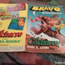 Tebeos: BRAVO- Nº 25 -EL CACHORRO Nº 13-SOBRE EL ABISMO - BRUGUERA 1976. Lote 146543730