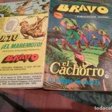 BDs: BRAVO. Nº 37. EL CACHORRO, Nº 19 EL HOMBRE SIN CABEZA. BRUGUERA 1976. Lote 146544290