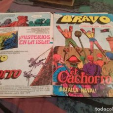 BDs: BRAVO. Nº 47. EL CACHORRO. Nº 24. -BATALLA NAVAL- BRUGUERA 1976. Lote 146545626