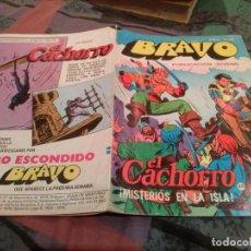 BDs: BRAVO - Nº 49 -EL CACHORRO - Nº 25 - MISTERIO EN LA ISLA - BRUGUERA 1976. Lote 146546102