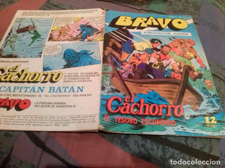 BRAVO-Nº 51. EL CACHORRO-Nº 26-EL TESORO ESCONDIDO-BRUGUERA 1976. (Tebeos y Comics - Bruguera - Bravo)