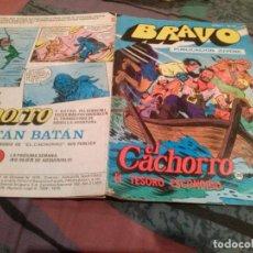Tebeos: BRAVO-Nº 51. EL CACHORRO-Nº 26-EL TESORO ESCONDIDO-BRUGUERA 1976.. Lote 146547554