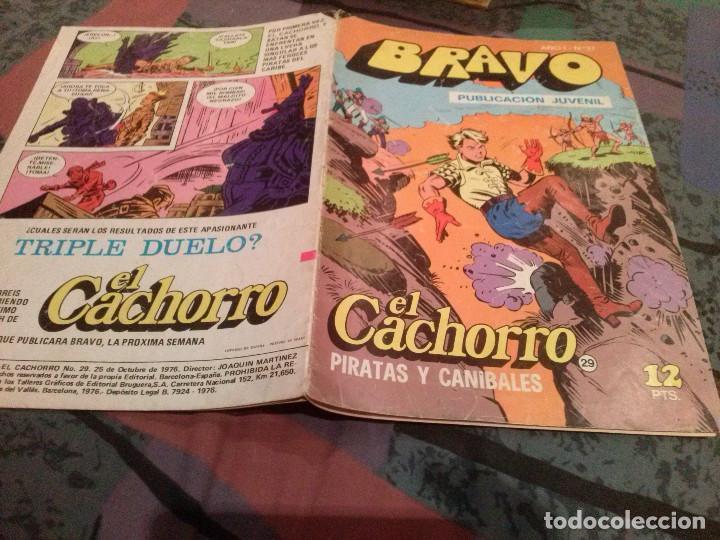 BRAVO Nº 57-EL CACHORRO - Nº 29- PIRATAS Y CANIBALES-BRUGUERA 1976 (Tebeos y Comics - Bruguera - Bravo)